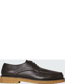 Honore Grained Leather Derby Shoes
