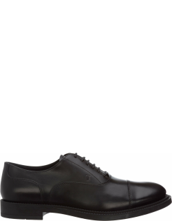 Tods Black Orchid Lace-up Shoes