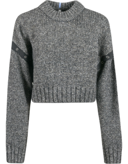McQ Alexander McQueen Ribbed Knit Cropped Jumper