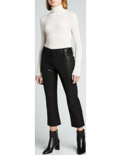 Stacey Faux-Leather Slim Cropped Pants