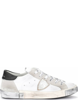 Philippe Model Paris X Sneakers In White Leather And Suede