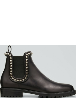 Crapahutta Spiked Leather Ankle Booties
