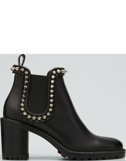 Crapahutta 70mm Spiked Leather Ankle Booties