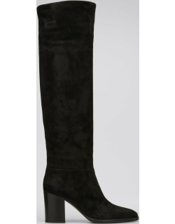 85mm Suede Knee Boots