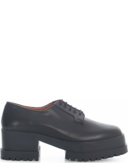 Clergerie Lace Up Shoes W/high Broken Sole