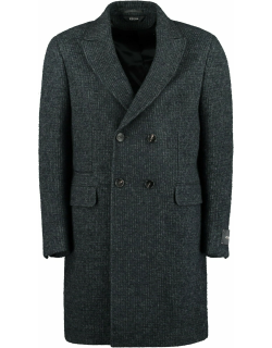 Z Zegna Wool Blend Double-breasted Coat