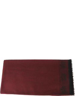 Churchs Red Wool Embroidery Scarf
