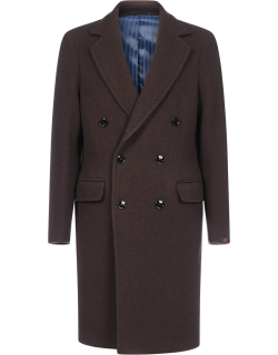 MP Massimo Piombo Roger Double-breasted Virgin Wool Coat