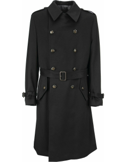 Lardini Double-breasted Trench Coat With Belt