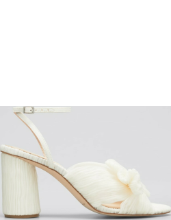 Camellia Knot Ankle-Strap Sandals