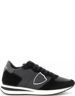 Philippe Model Tropez X Sneaker In Black Leather And Suede