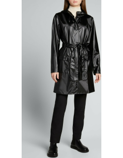 Curve Water-Resistant Trench Coat w/ Hood