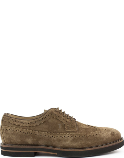 Tods Lace Ups In Brown Suede