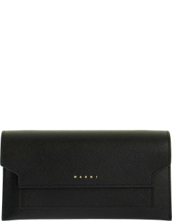 Marni Bellows Wallet In Saffiano Leather