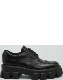 Leather Lugged-Sole Oxford Oxfords