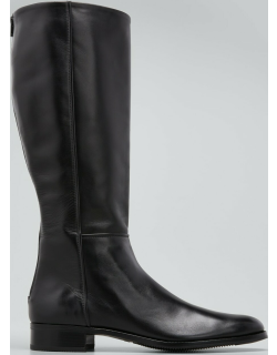 Tall Leather Zip Riding Boots