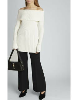 Chunky Rib Off-the-Shoulder Long-Sleeve Top
