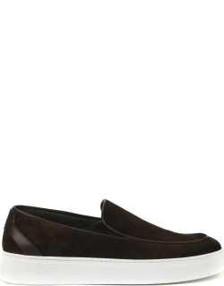 Fabi Suede Slip On With Leather Inserts