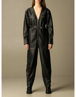 REMAIN Birger Christensen Remain Dress Remain Suit In Genuine Leather With Belt