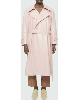 Amal Faux-Leather Trench