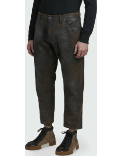 Men's Overdyed Cropped Jeans