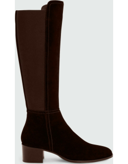55mm Nova Stretch Suede Over-the-Knee Boots