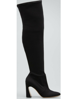 Stretch Twill 100mm Over-The-Knee Boots