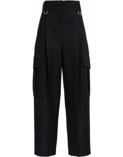Givenchy Black Cargo Pants In Light Wool