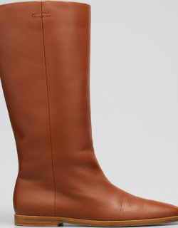 Skye Leather Pull-On Knee Boots