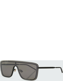 Mask Shield Mirrored Sunglasses