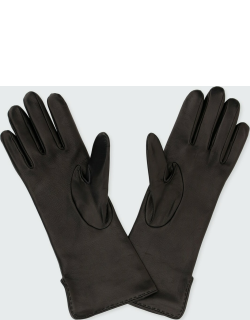 Max's Plonge Leather & Cashmere Gloves