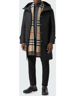 Reversible Giant Check Double-Face Cashmere Scarf