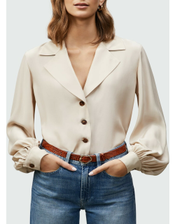 Therese Matte Silk Blouse
