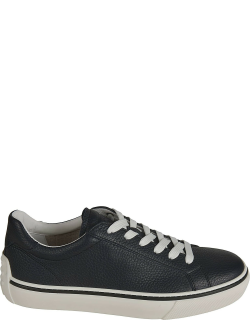 Tods Grained Leather Classic Sneakers