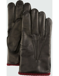 Men's Napa Leather Gloves w/ Knit Lining