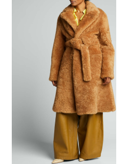 Teddy Shearling Belted Coat