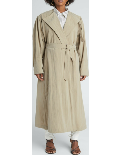 Nylon Belted Trench Coat