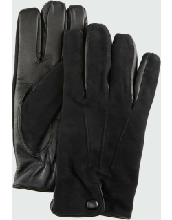 Men's Lamb Suede-Leather Gloves with Cashmere Lining