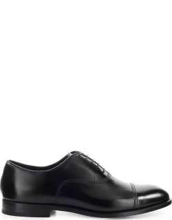 Doucals Black Oxford Lace Up