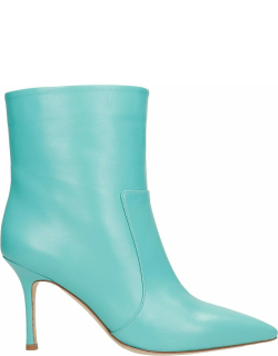The Seller High Heels Ankle Boots In Green Leather