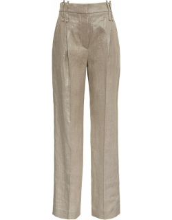 Brunello Cucinelli Tailored Pants In Shiny Linen