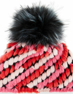 Faux-Fur Pineapple Hat with Pompom